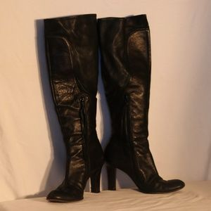 DKNY Black Genuine Leather Boots